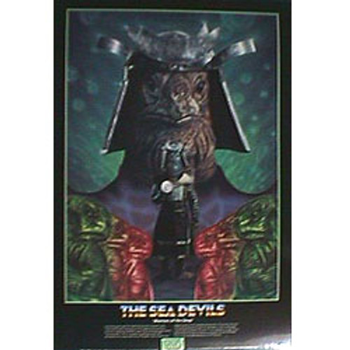 Doctor Who Vintage 1980's Laminated Poster - SEA DEVILS