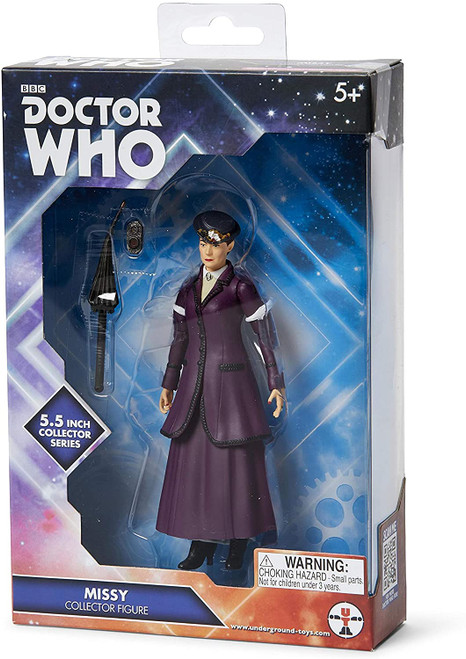 """Doctor Who New Series - MISSY """"The Master"""" (Michelle Gomez) in Purple Dress - Action Figure - Character Options"""