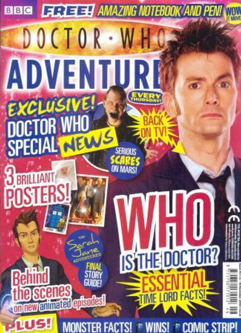 Doctor Who Adventures Magazine #141 - Plus FREE Gifts: 10th Doctor 3D Notebook & Pen