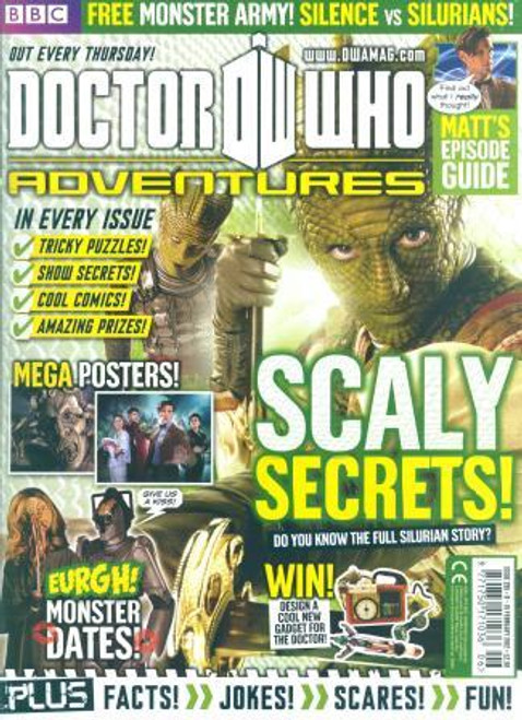 Doctor Who Adventures Magazine #255 - Plus FREE Gifts: Silence vs. Silurians mini figures