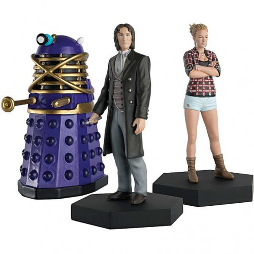 Doctor Who: BIG FINISH 8th Doctor & LUCIE MILLER with Time Controller Dalek! - Eaglemoss Figurine Limited Set