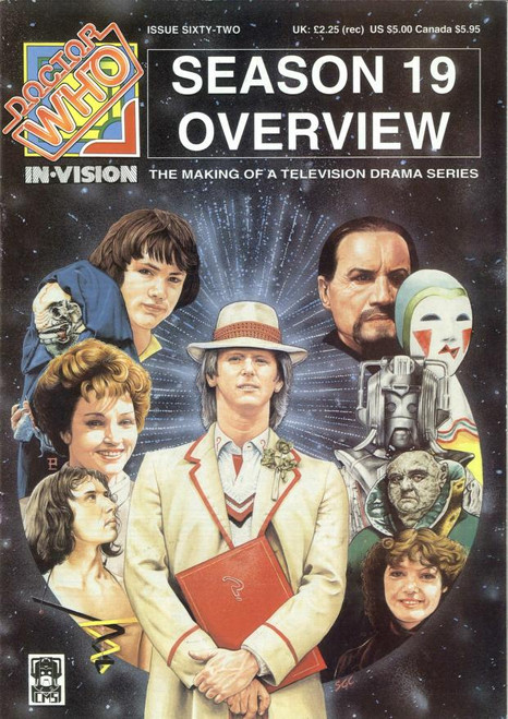 Doctor Who IN*VISION UK Imported Episode Magazine #62 - Season 19 Overview