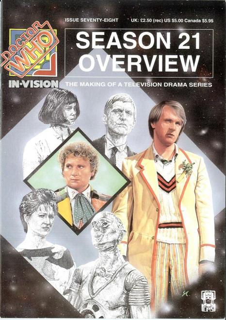 Doctor Who IN*VISION UK Imported Episode Magazine #78 - Season 21 Overview (Corner Damaged)