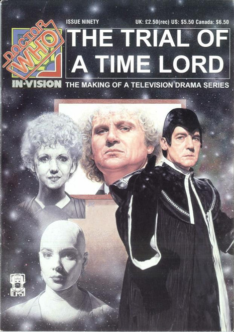 Doctor Who IN*VISION UK Imported Episode Magazine #90 - Season 23 Overview (Trial of A Time Lord)