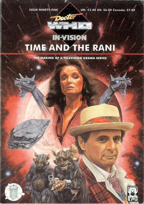 Doctor Who IN*VISION UK Imported Episode Magazine #91 - TIME AND THE RANI