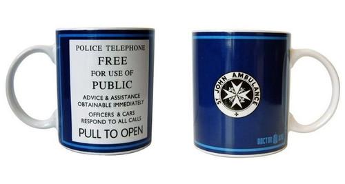 Doctor Who: TARDIS Door Sign 11oz. Ceramic Mug