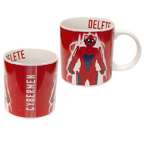 "Doctor Who: Cyberman ""Delete"" Red Stylish New Series 11oz. Ceramic Mug"