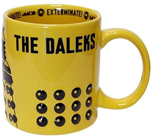 Doctor Who: Dalek 2D Yellow Stylish New Series 11oz. Ceramic Mug
