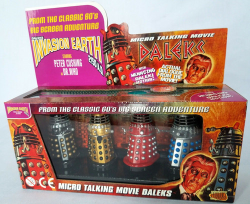 DOCTOR WHO Product Enterprise - Talking MOVIE DALEK Set of 4 in Box