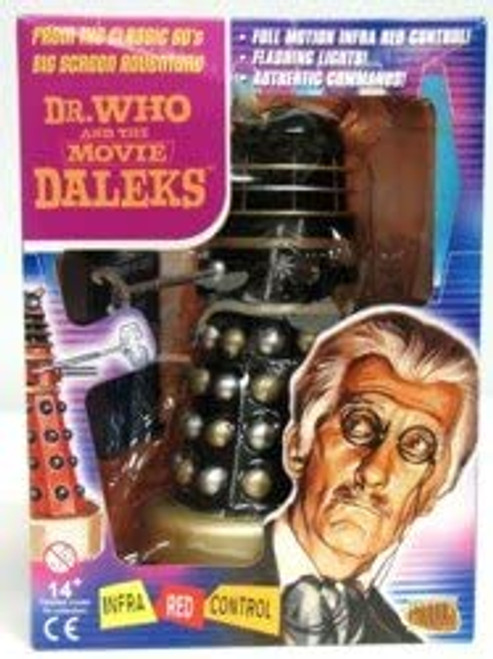 Doctor Who & the Daleks Movie - BLACK Talking Dalek w/Infrared Remote Control