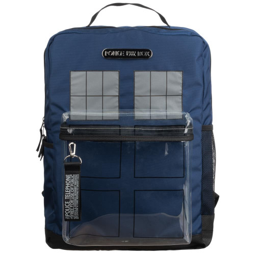 Doctor Who TARDIS Backpack with clear front window pocket