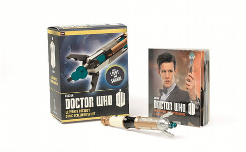 Doctor Who Light Up & Sound Mini SONIC SCREWDRIVER (Matt Smith) and Illustrated Mini Book from Running Press by Richard Dinnick