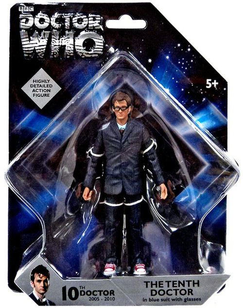 Doctor Who New Series - 10th DOCTOR IN BLUE SUIT with Glasses (Red shoes) - Action Figure - Character Options