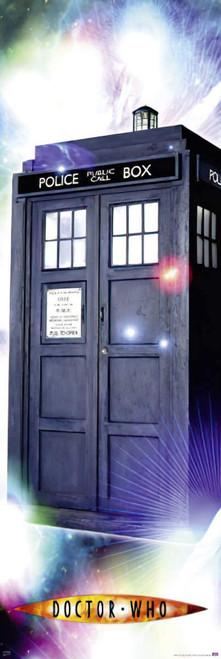 "Doctor Who: TARDIS (10th Doctor - David Tennant) - Large Door Poster - 62"" X 21"""