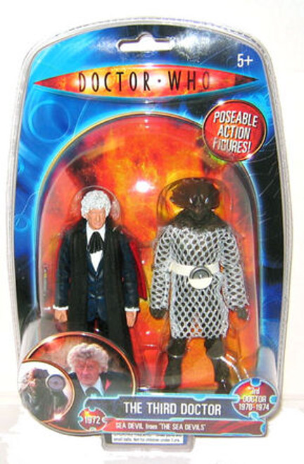 Doctor Who Classic Series Action Figure - 3rd DOCTOR with Sea Devil from 'The Sea Devils' - Character Options