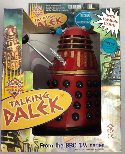 Doctor Who Exclusive Talking Dalek (RED with BLACK) - Limited Edition from Sci-Fi Collector in the UK