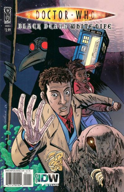 Doctor Who Comic Book: BLACK DEATH WHITE LIFE (Artwork Cover)