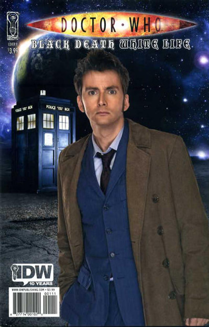 Doctor Who Comic Book: BLACK DEATH WHITE LIFE (David Tennant Photo Cover)