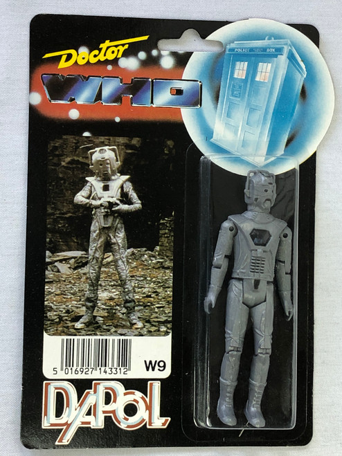 Doctor Who: CYBERMAN (Earthshock version) - Vintage DAPOL Figure (First Issue Photo card) C-8.5+