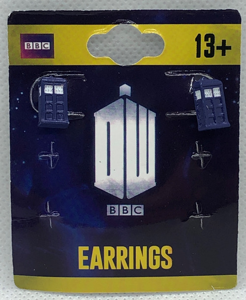 Doctor Who: TARDIS 3D Police Box Post Style Earrings