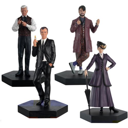 Doctor Who: THE MASTER Set #2 Modern Era - Eaglemoss 1:21 Scale Figurine Boxed Set