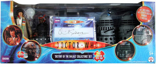 Doctor Who: DESTINY OF THE DALEKS  Limited Edition Signed by David Gooderson - Classic Series Action Figure Set