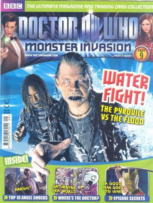 Doctor Who Monster Invasion Magazine Issue #9 (Complete with Sealed Trading Card Pack)