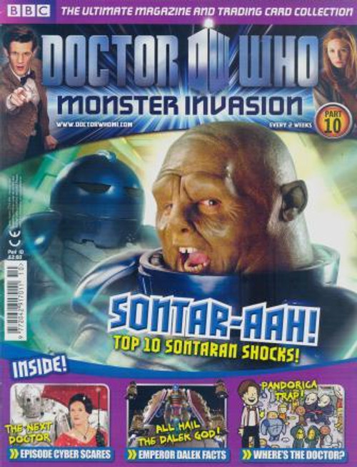 Doctor Who Monster Invasion Magazine Issue #10 (Complete with Sealed Trading Card Pack)