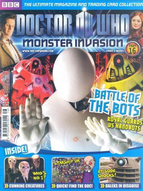 Doctor Who Monster Invasion Magazine Issue #16 (Complete with Sealed Trading Card Pack)
