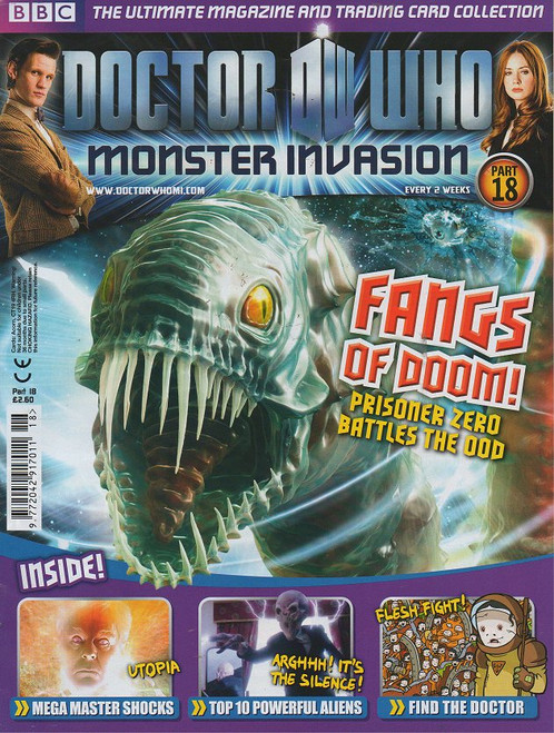Doctor Who Monster Invasion Magazine Issue #18 (Complete with Sealed Trading Card Pack)
