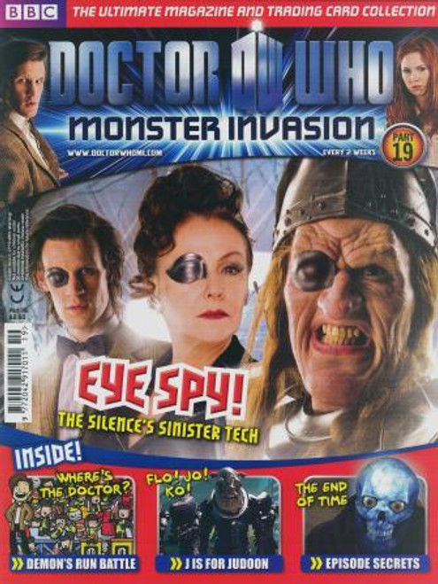 Doctor Who Monster Invasion Magazine Issue #19 (Complete with Sealed Trading Card Pack)