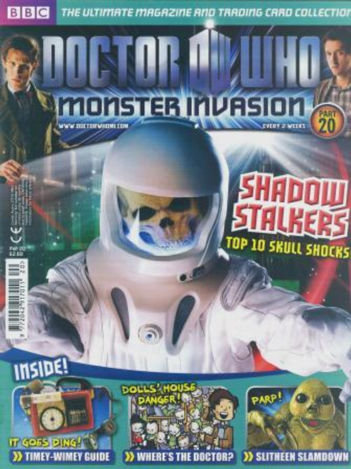 Doctor Who Monster Invasion Magazine Issue #20 (Complete with Sealed Trading Card Pack)
