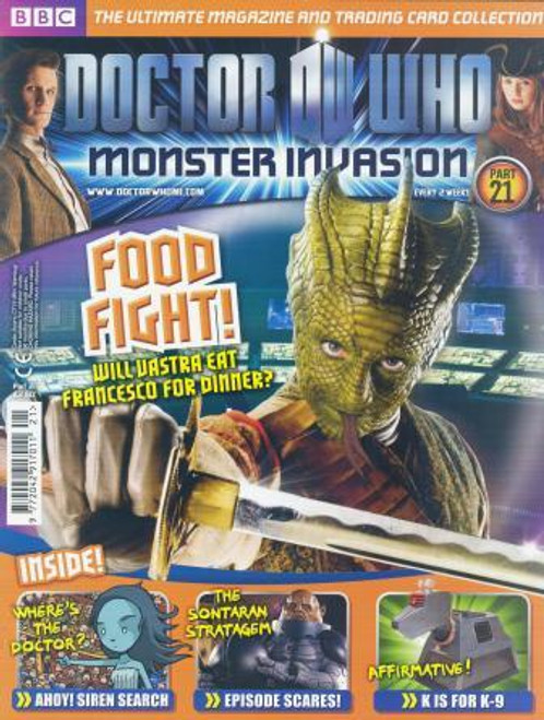 Doctor Who Monster Invasion Magazine Issue #21 (Complete with Sealed Trading Card Pack)