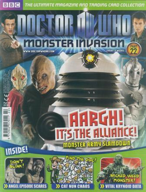 Doctor Who Monster Invasion Magazine Issue #22 (Complete with Sealed Trading Card Pack)