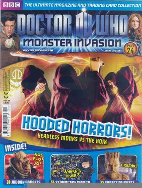 Doctor Who Monster Invasion Magazine Issue #24 (Complete with Sealed Trading Card Pack)