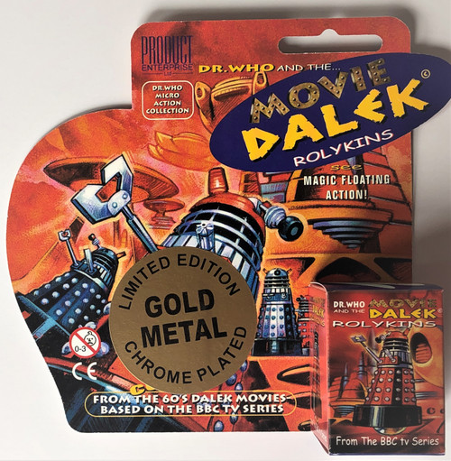 Rolykin Special Edition CHOME PLATED MOVIE Dalek by Product Enterprise in Display Box  - GOLD