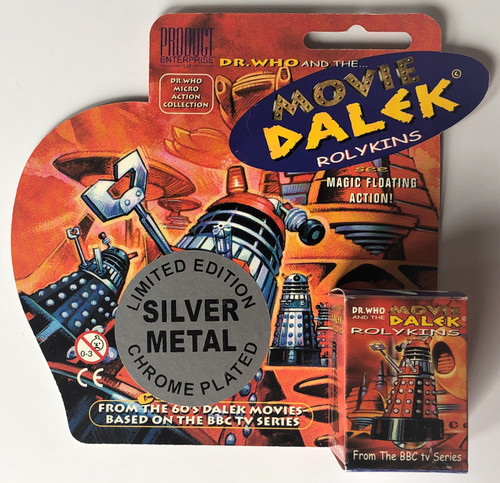 Rolykin Special Edition CHOME PLATED MOVIE Dalek by Product Enterprise in Display Box  - SILVER