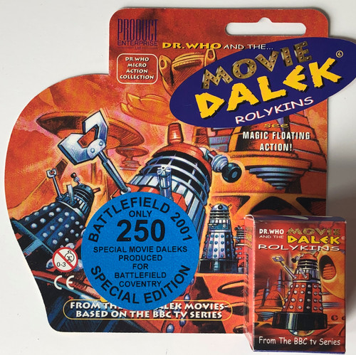 Rolykin Movie Dalek by Product Enterprise in Display Box  - BATTLEFIELD Convention Exclusive (Limited to 250)