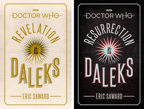 Doctor Who BBC Hardcover Book set of 2 -  RESURRECTION & REVELATION OF THE DALEKS - Episode Novelization by Eric Saward