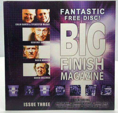 BIG FINISH CD MAGAZINE - UK Imported Promotional audio ISSUE #3