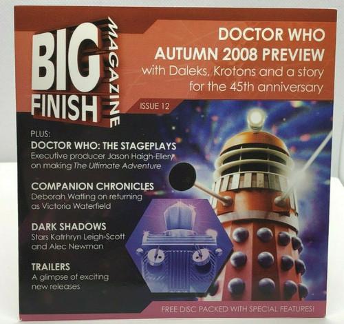 BIG FINISH CD MAGAZINE - UK Imported Promotional audio ISSUE #12
