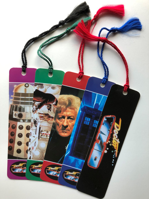 Doctor Who: Vintage 1996 Bookmarks with Tassels - Set of 5