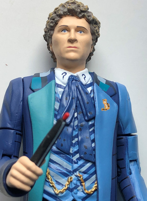 Doctor Who Action Figure - 6th DOCTOR (Colin Baker) as seen in REAL TIME - Unpackaged