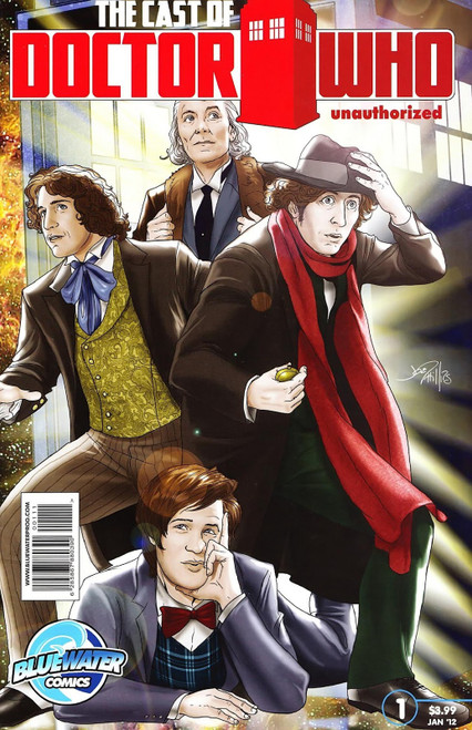 The Cast of Doctor Who Unauthorized - Bluewater Productions Comic Book from 2012