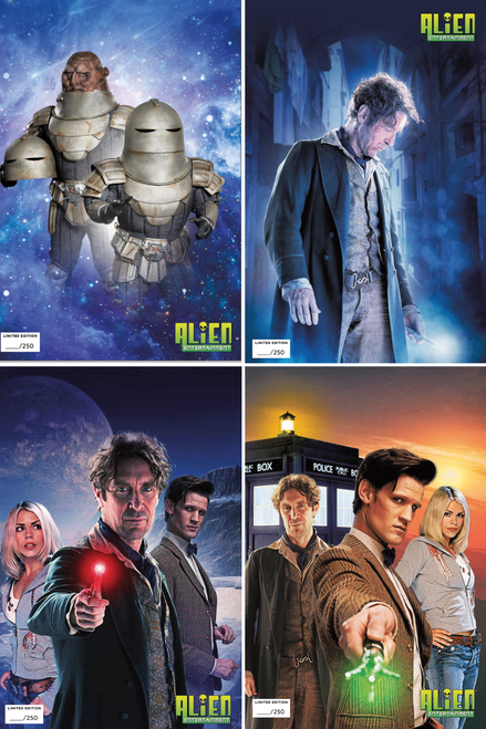 Doctor Who Titan Comic Book: EMPIRE OF THE WOLF - Set of ALL 4 Covers with Matching Numbers (Alien Entertainment Exclusive Photo Cover - Limited Edition of only 250) (Read Description)