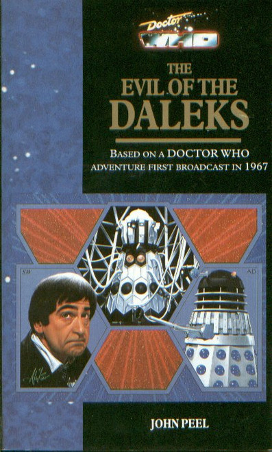 Doctor Who Virgin Paperback Book: EVIL OF THE DALEKS (Blemishes on the cover and browning on the insides of the cover)