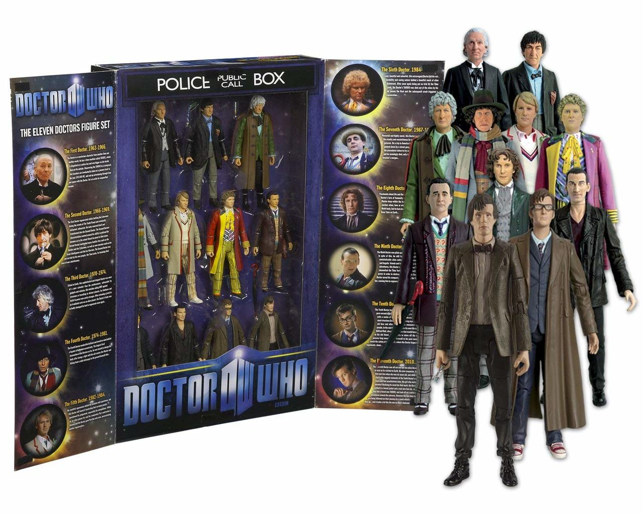 Doctor Who Eleven Doctors Action Figure Set Character Options