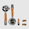 ECM Olive Wood Handle Set with Lever Valves