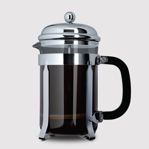 12 Cup Cafetière (1,5L) - Glass Body with Stainless Steel Casing