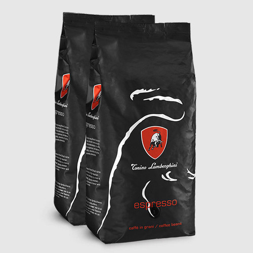 2 bags of Tonino Lamborghini Platinum 1kg Coffee Beans